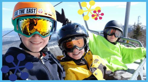 Kids on the Ski Lift