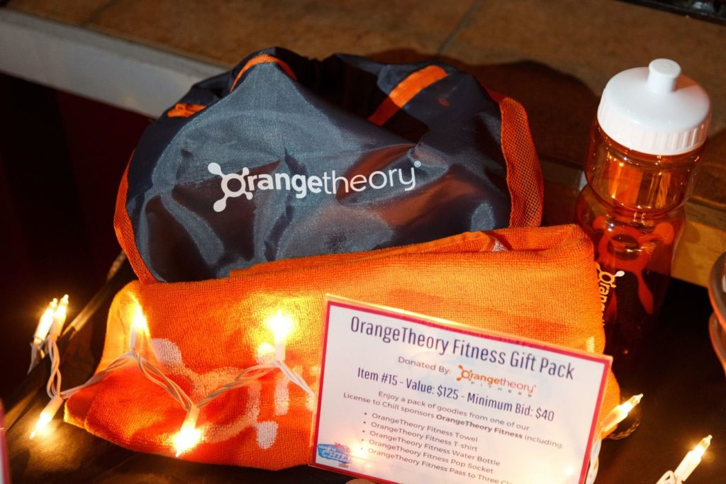 WinterKids License to Chill 2018 Auction Items OrangeTheory Gift Pack Stephen Davis Photo