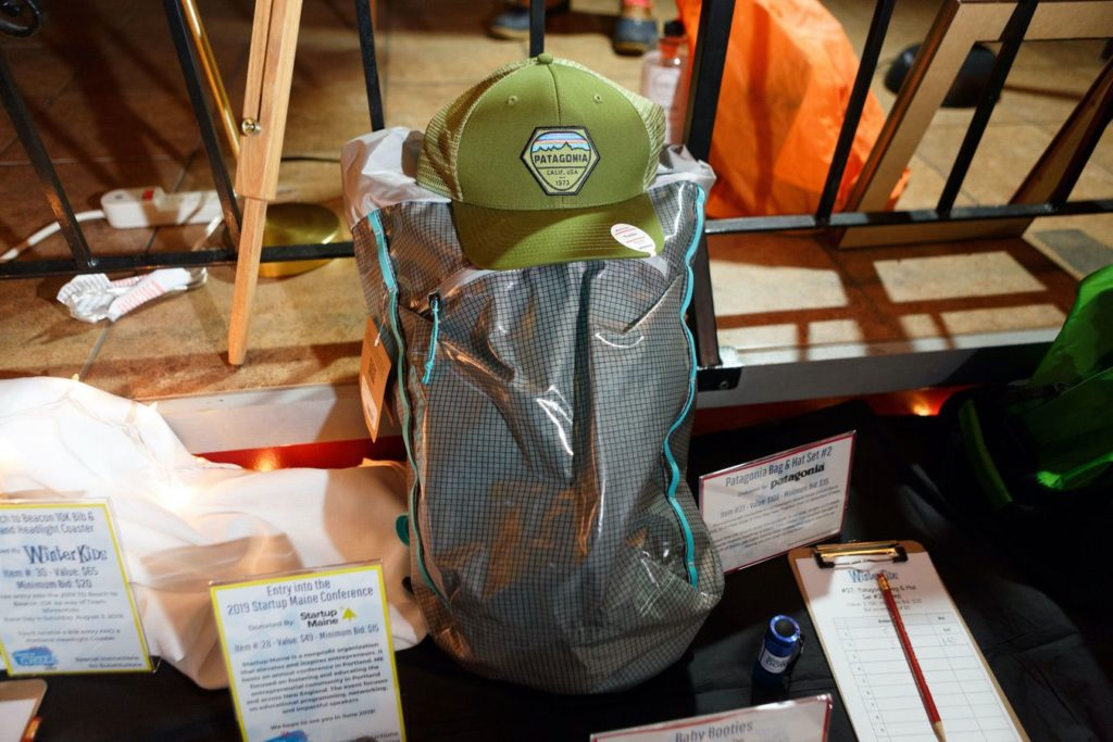 WinterKids License to Chill 2018 Auction Items Patagonia Ball Cap and Bag Stephen Davis Photo