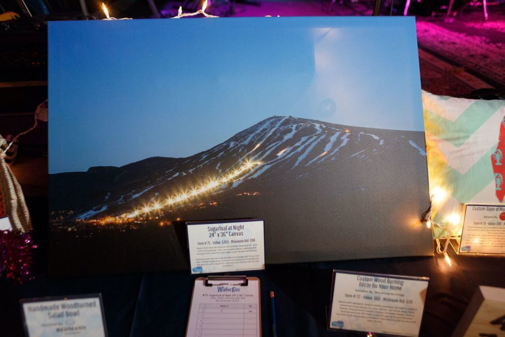 WinterKids License to Chill 2018 Auction Items Sugarloaf at Night Stephen Davis Photo