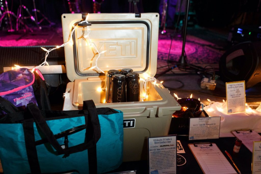 WinterKids License to Chill 2018 Auction Items Yeti Roadie Cooler with Bissell Brothers Beer Stephen Davis Photo