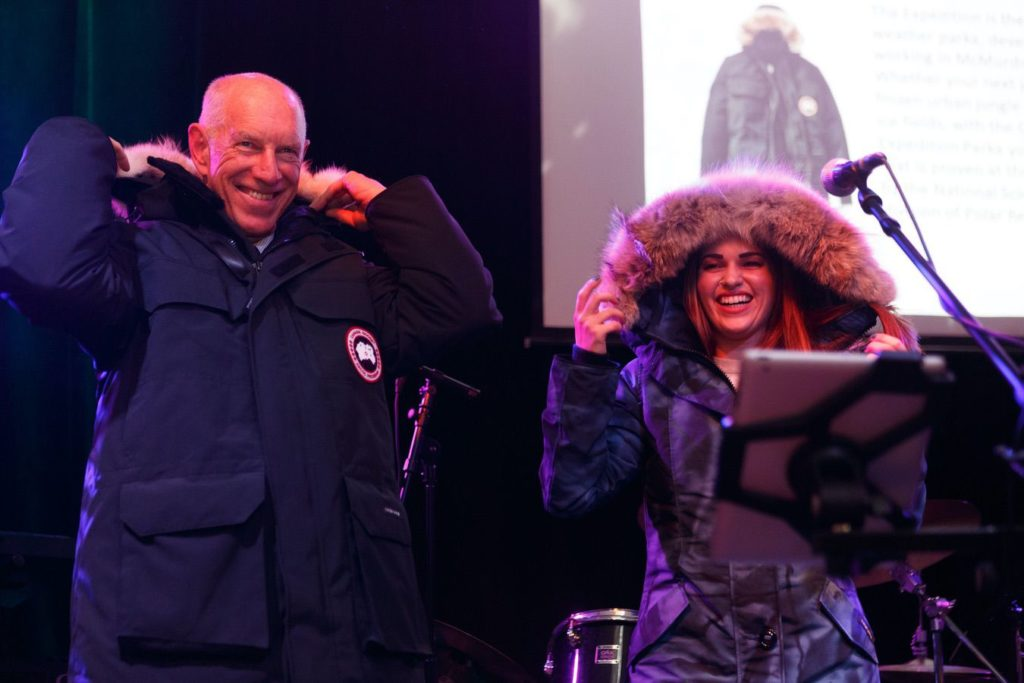 WinterKids License to Chill 2018 Live Auction Canada Goose Jackets Stephen Davis Photo