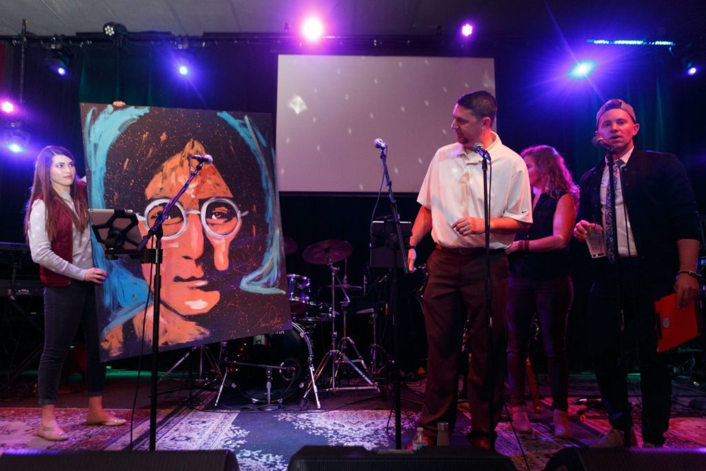 WinterKids License to Chill 2018 Live Auction John Lennon Painting Stephen Davis Photo