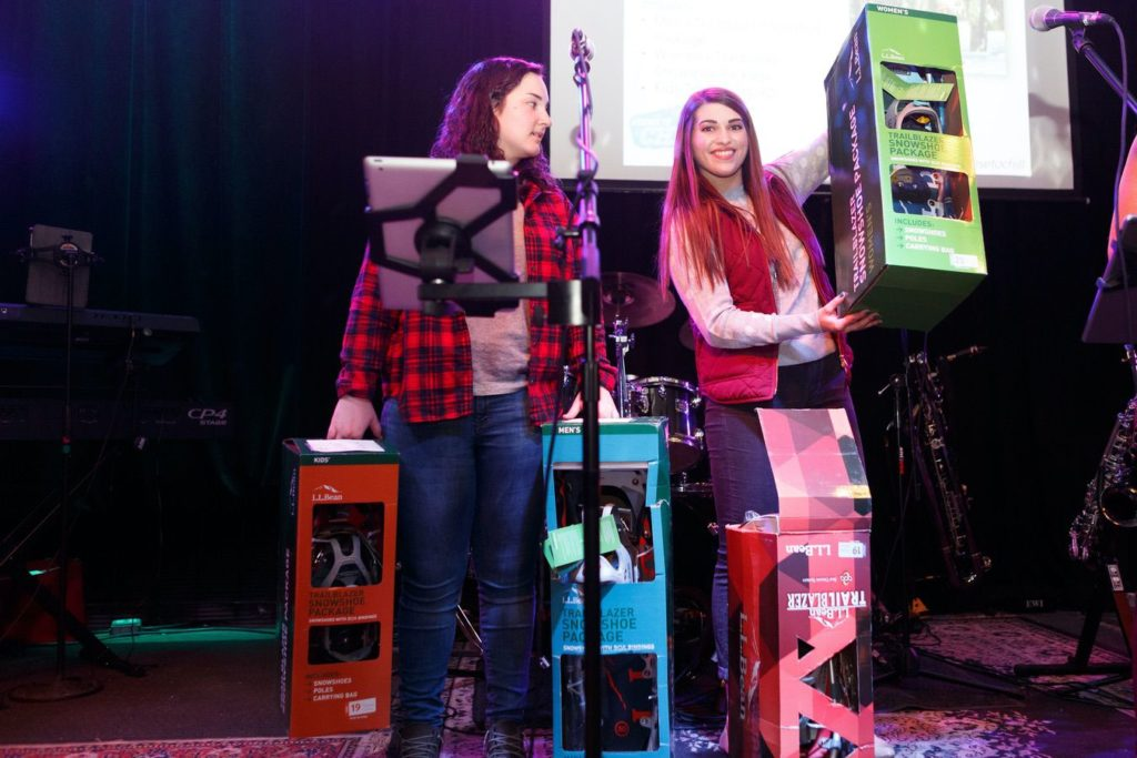 WinterKids License to Chill 2018 Live Auction LL Bean Snowshoes Stephen Davis Photo