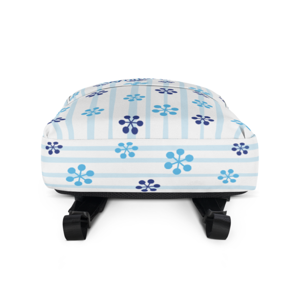 WinterKids Backpack Blue Snowflake front WinterKids Backpack Blue Snowflake mockup Bottom White