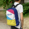 WinterKids Backpack front WinterKids Backpack top back front panels Winter mockup Right Lifestyle White
