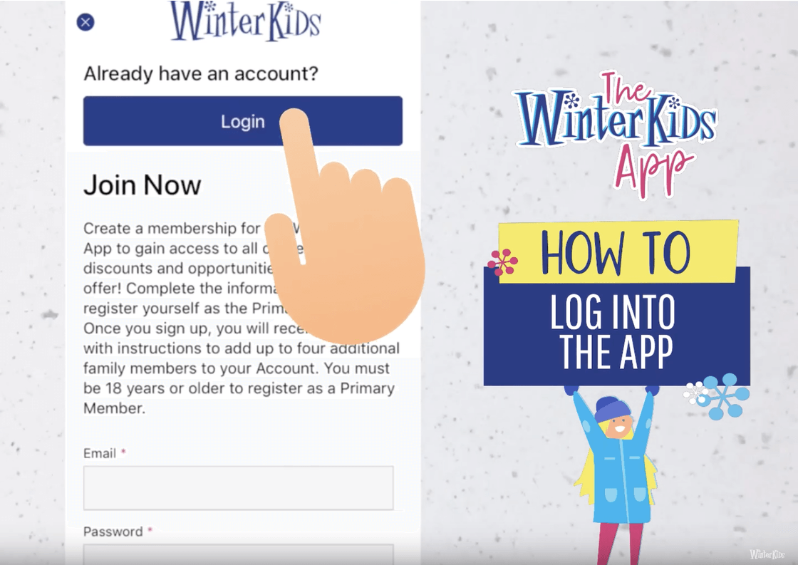 How to Log Into the App