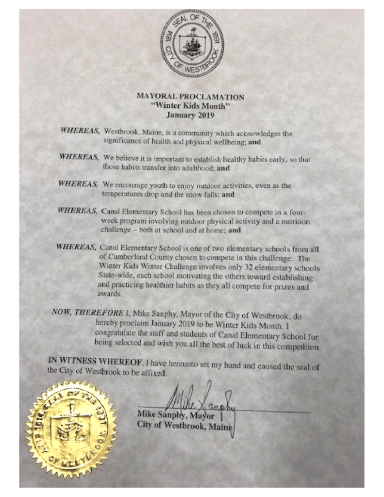 Proclamation by the Mayor WinterGames 2019