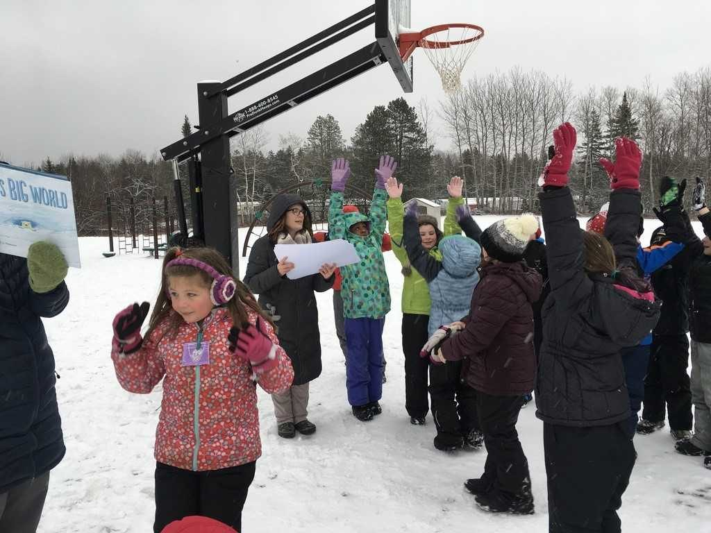 Ash Point School Participates in WinterKids games
