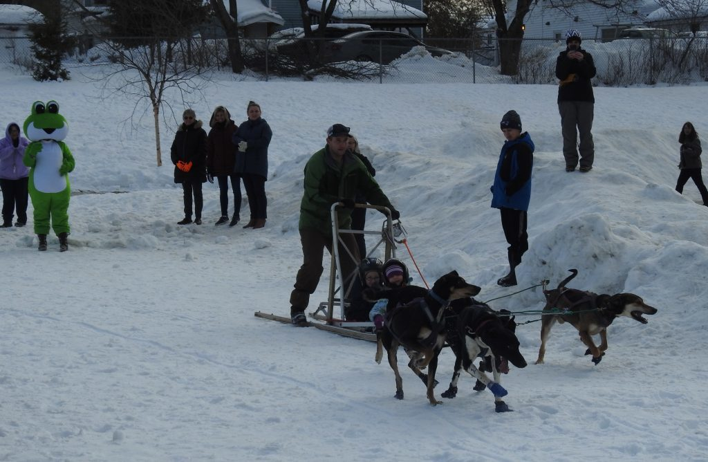 WinterKids Competition Brings Sled Dogs to Mallett School
