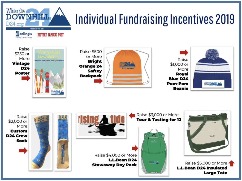 WinterKids D24 Fundraising Incentives 2019
