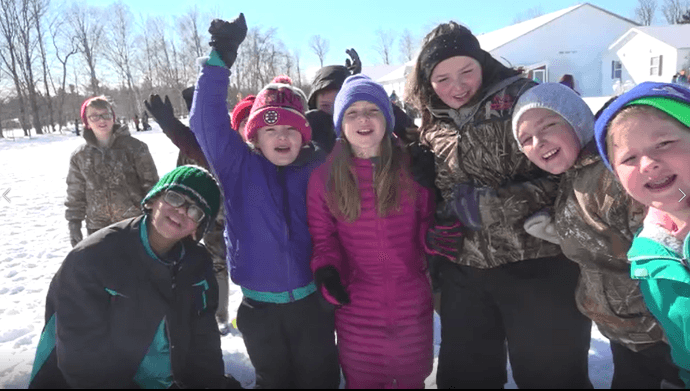 Ames Elementary School Going for the Gold with Winter Carnival