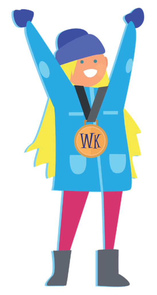 Animated Girl With Medal