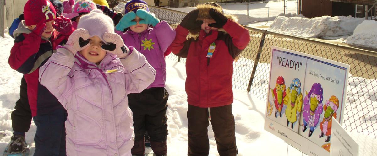 Kids on Story Walk 1