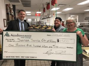 Albany Donation Acadia Insurance