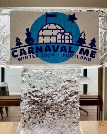 Carnaval Maine Ice Sculpture