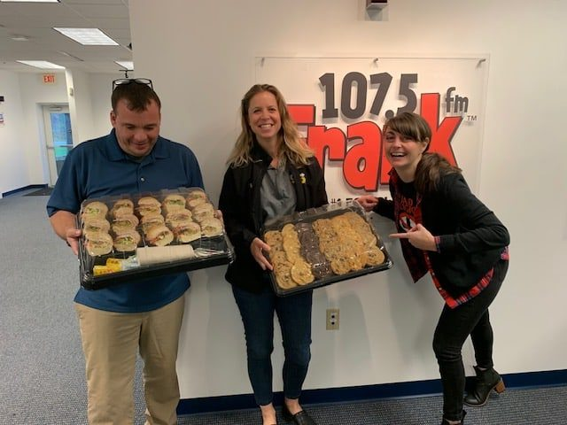 Subway of Maine Donating at Frank FM