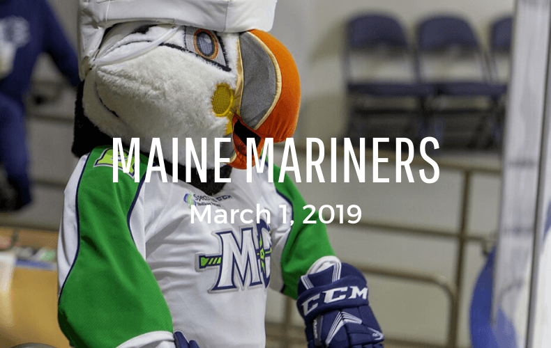 Family Day Maine Mariners March 1 2020
