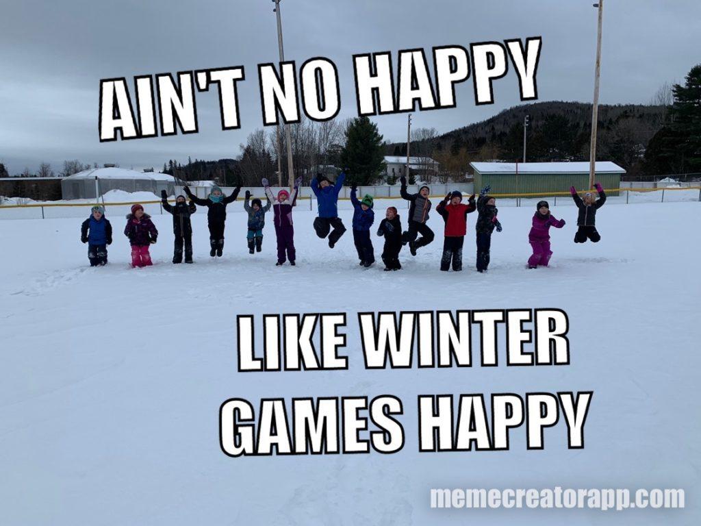 Fort Kent Elementary School Winter Games 2020 Week 2 MEME