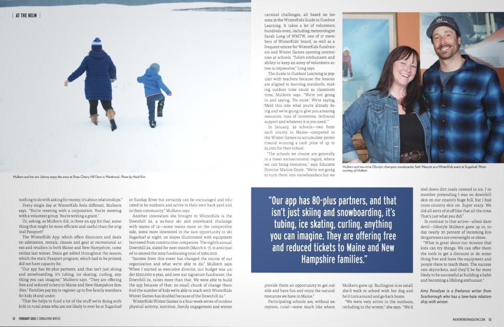 Maine Women Mag February 2020 Snow Queen 03