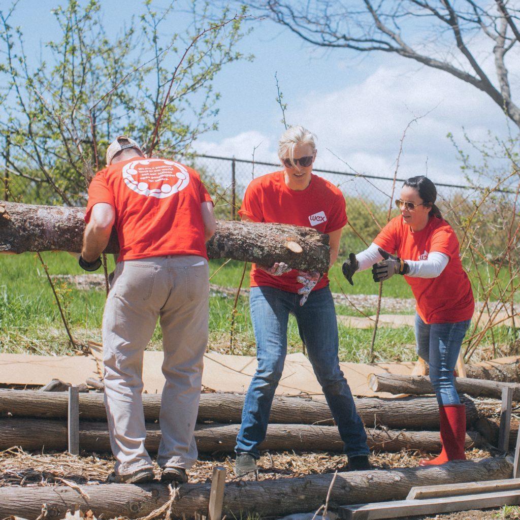 Wex team members giving back