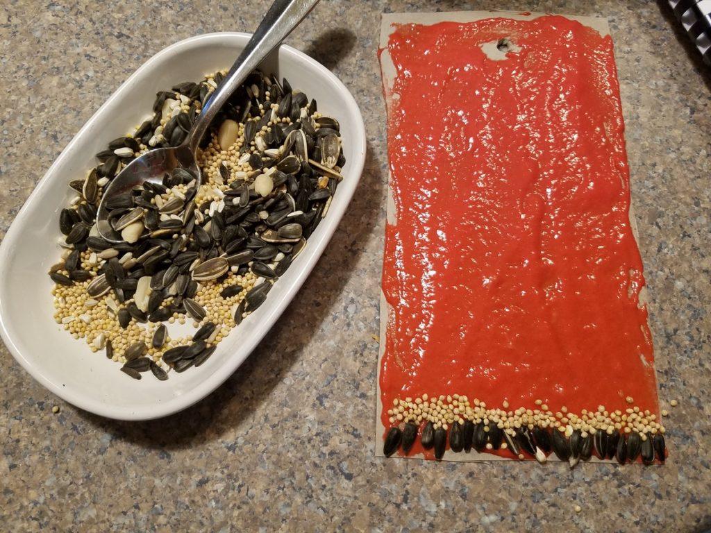 DIY Seed Mosaic Bird Feeders WinterKids2