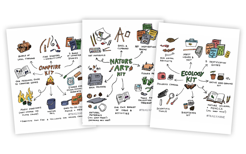 Back40 TrailVan Ecology Nature Campfire Kits