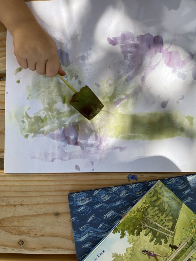 Water Science and Ice Cube Painting WinterKids 2853