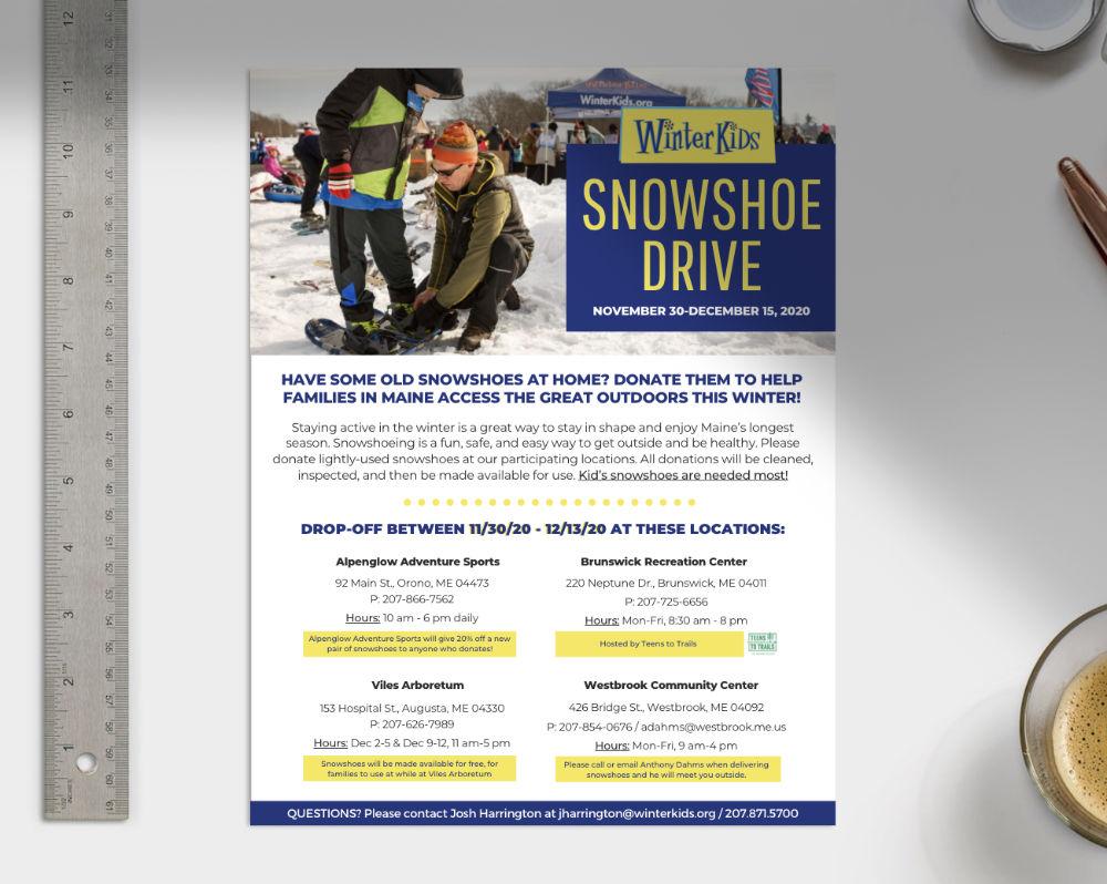 Downloadable Snowshoe Drive Flyer 1
