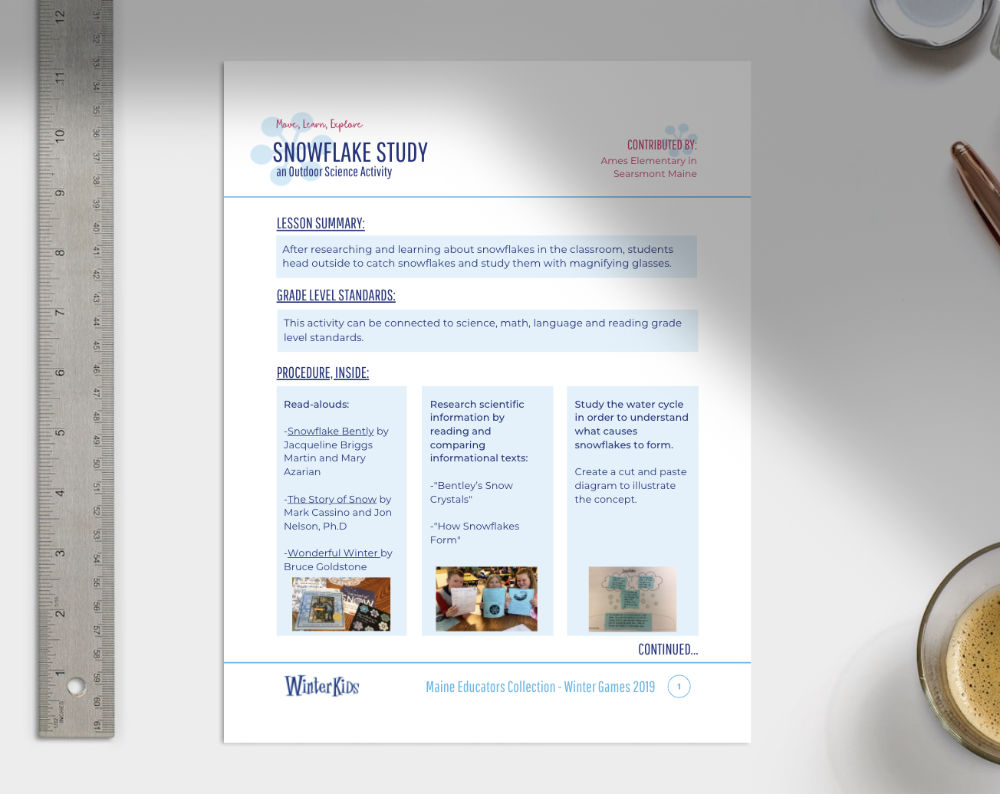 Snowflake Bentley Downloadable Lesson Plan Preview
