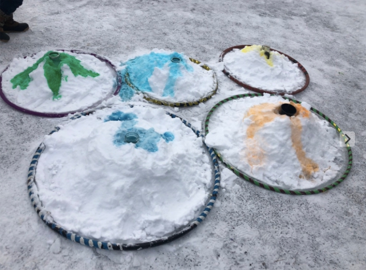 Snow Volcanoes Bay Ridge After Eruptions WinterKids
