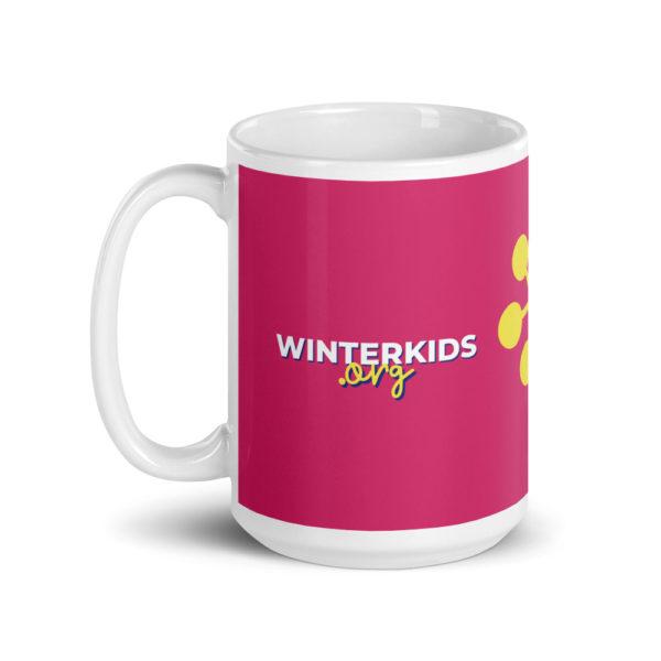 white glossy mug 15oz handle on left 60352be202455