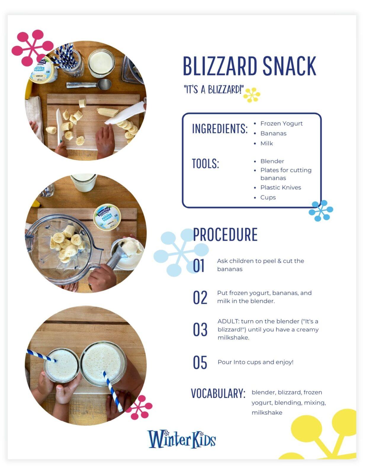 Blizzard Snack Recipe Printable Preview WinterKids